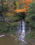 Falls in Taughannock Falls State Park, Finger Lakes Region