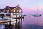Watch Hill Yacht Club and Harbor at Sunrise, Watch Hill, Westerly, RI