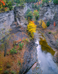 Gorge at Taughannock Falls State Park in Fall, Finger Lakes Region, Ulysses, NY