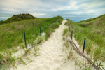 Sandy Path through Dunes at Napatree Beach, Napatree Point Conservation Area, Watch Hill, Westerly, RI