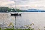 Sailboat on Lake Winnipesaukee, Mirror Lake, Tuftonboro, NH