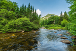 Doubletop Mountain and Nesowadnehunk Stream on a Sunny Day, Baxter State Park, ME