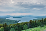 Cloudy Skies over Mooselookmeguntic Lake, View from Height of Land Overlook, Rangeley Lakes Region, Township D, ME