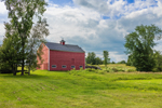 Big Red Barn with Cupola, New Vineyard, ME