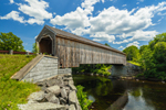 Low's Bridge (Wooden Covered Bridge) over Piscataquis River, Originally Built 1830, Rebuilt 1857 & 1990, National Historic Landmark, Guilford and Sangerville, ME