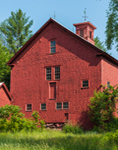 Close Up of Historic Red Barn, Built 1788, Hanover, ME