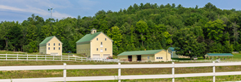 Yellow Barns with White Fences, Andover, ME