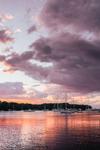 Sunset over Boats in Lake Tashmoo, Martha's Vineyard, Tisbury, MA
