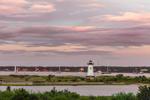 Edgartown Lighthouse at Sunset, Edgartown Harbor, Martha's Vineyard, Edgartown, MA