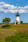 Tarpaulin Cove Light and Rolling Hills on Naushon Island, Elizabeth Islands, Town of Gosnold, MA