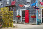 Menemsha Fish Market and Lobster Traps, Village of Menemsha, Martha's Vineyard, Chilmark, MA