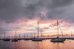 Sunrise over Sailboats in Vineyard Haven Harbor, Vineyard Haven, Martha's Vineyard, Tisbury, MA