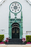 "Front Doors of ""Our Lady Star of the Sea"" Church, The Good Shepherd Parish, Martha's Vineyard, Oak Bluffs, MA"