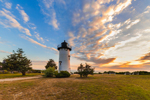 Sunrise at East Chop Lighthouse, Martha's Vineyard, Oak Bluffs, MA