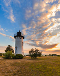 Sunrise at East Chop Lighthouse, Martha's Vineyard, Oak Bluffs, MA
