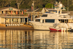 Vineyard Haven Marina and Private Yacht in Vineyard Haven Harbor, Martha's Vineyard, Tisbury, MA