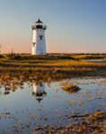 Edgartown Lighthouse with Reflections in Early Morning Light, Martha's Vineyard, Edgartown, MA