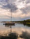 Clearing Skies over Sailboats in Lake Tashmoo after Thunderstorm, Martha's Vineayrd, Tisbury, MA