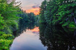 Sunset on the Millers River, Athol, MA