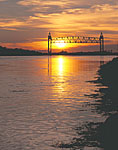 Sunset, Railroad Bridge on Cape Cod Canal