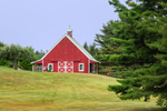 Red Barn with Cupola and White Trim, Pretty Marsh, Mount Desert, ME