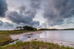 Sunrise over Beach at Majors Harbor and Mashomack Preserve, Shelter Island, NY