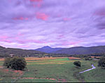 Sunset, Camels Hump Mountain and Farmland