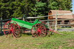 Old Wagon and Barn on Stowe Mountain Ranch, Stowe, VT