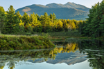 Mount Mansfield with Reflections in Sterling Pond in Late Evening Light, Cambridge, VT