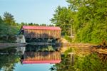 Hancock-Greenfield Covered Bridge (aka County Bridge) over Contoocook River at Powder Mill Pond, Hancock, NH
