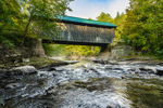 Jaynes Covered Bridge (aka Codding Hollow Covered Bridge) over North Branch Lamoille River, Waterville, VT