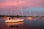 Sunset over Boats on the Connecticut River, Essex, CT