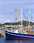 Fishing Boats and Provincetown Monument, Cape Cod