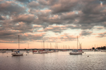 Late Evening under Cloudy Skies at North Cove, Harbor of Refuge, Connecticut River, Old Saybrook, CT