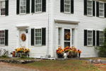 Festive Fall Flower Arrangements at Doorways to Colonial Home, Fitzwilliam, NH