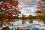 Cloud Reflections at Harvard Pond in Early Autumn, Petersham, MA