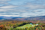 Green Meadows Farm and Green Mountain National Forest, View from Wilmington, VT