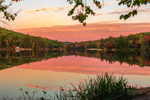 Reflections in Laurel Lake at Sunset, Erving State Forest, Erving, MA