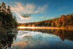 Early Morning Light at Laurel Lake in Autumn, Erving State Forest, Erving, MA