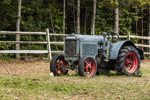 Antique McCormick Deering Tractor at Stowe Mountain Ranch, Stowe, VT