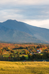 Mount Mansfield, Green Mountains and Valley Farmlands in Late Evening Light, Cambridge, VT
