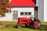 "Antique McCormick International Farmall ""H"" Tractor at Jenny's Barn in Fall, Franklin, VT"