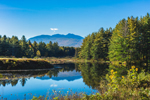 Mount Mansfield Reflecting in Calm Waters of Sterling Pond in Fall, Village of Jeffersonville, Cambridge, VT