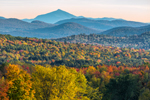 Camel's Hump and Green Mountains in Fall, View from Fletcher, VT