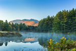 Early Morning Fog and Mount Mansfield Reflections on Sterling Pond, Cambridge, VT