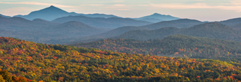 Camel's Hump and Mountain Layers in Fall,  Green Mountains, View from Fletcher, VT