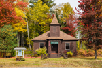 Oquossoc Union Church, Historic Log Church, Built 1916, Village of Oquossoc, Rangeley, ME