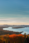 Late Evening Light over Mooselookmeguntic Lake, View from Height of Land Overlook, Rangeley Lakes National Scenic Byway, Township D, ME