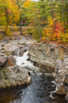 Coos Canyon Falls on Swift River in Fall, Byron, ME
