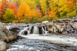 Waterfalls on Swift River at Coos Canyon in Fall, Byron, ME